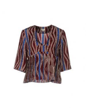 Блузка SUNO. Цвет: красно-коричневый