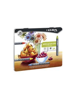 Aquacolor восковые акварельные карандаши 24 цв. Lyra. Цвет: серый, белый, зеленый