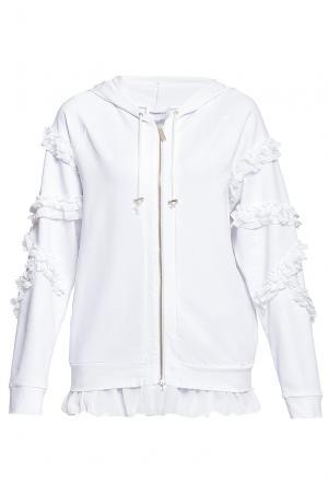 Олимпийка из хлопка 184668 Anna Rita N. Цвет: белый