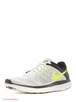 Кроссовки NIKE FLEX 2016 RN. Цвет: белый, черный, желтый