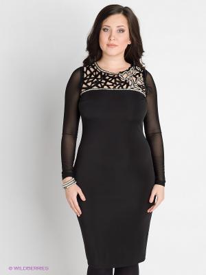 Платье VERDA. Цвет: черный, серебристый