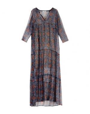 Длинное платье BELLA JONES. Цвет: темно-синий