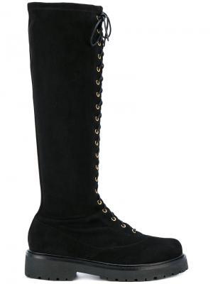 Ботинки на шнуровке Twin-Set. Цвет: чёрный