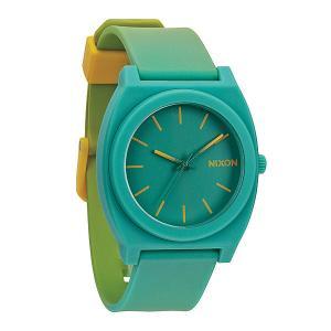 Часы  Time Teller P Yellow/Teal Fade Nixon. Цвет: голубой,желтый