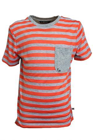 Футболка La Miniatura. Цвет: оранжевый в серую полоску