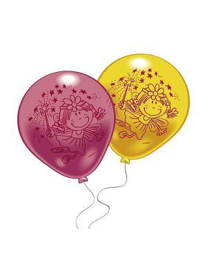 10 шариков с рисунком Забавная Фея Everts. Цвет: розовый