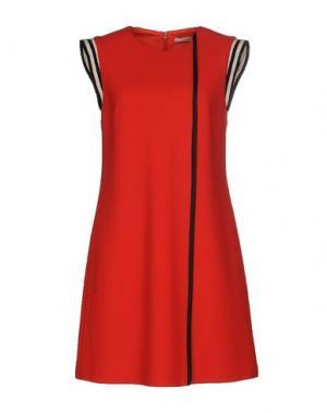 Короткое платье BOUCHRA JARRAR. Цвет: красный