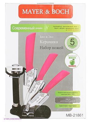 Ножи кухонные MAYER-BOCH. Цвет: черный, красный