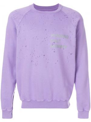Printed moth eaten sweatshirt Satisfy. Цвет: розовый и фиолетовый