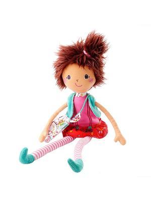 Мона: мягкая цирковая кукла Lilliputiens. Цвет: бежевый, розовый, коричневый