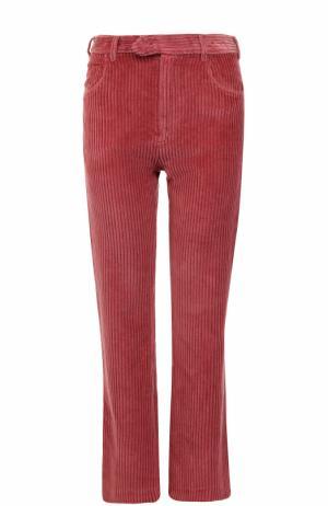 Расклешенные вельветовые джинсы Isabel Marant. Цвет: бордовый