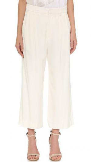 Драпированные укороченные брюки Tess Giberson. Цвет: белый