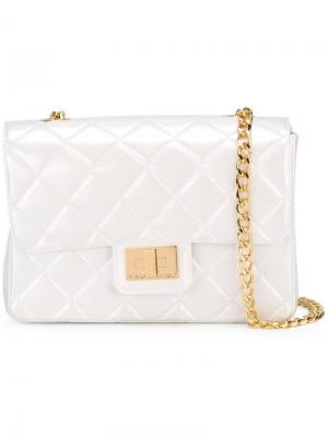 Стеганая сумка на плечо Milano Designinverso. Цвет: белый