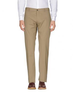 Повседневные брюки MAURIZIO MIRI. Цвет: бежевый