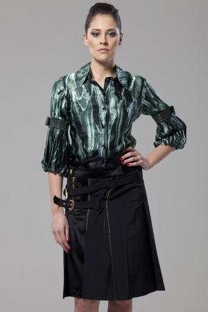Блузка Gizia. Цвет: зеленый