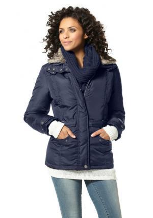 Пуховая куртка BOYSENS BOYSEN'S. Цвет: серо-коричневый, цвет баклажана