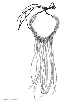 Ожерелье Polina Selezneva. Цвет: серый