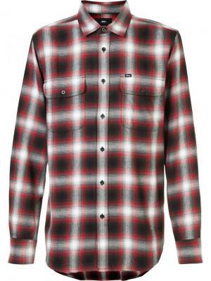 Plaid shirt Obey. Цвет: красный