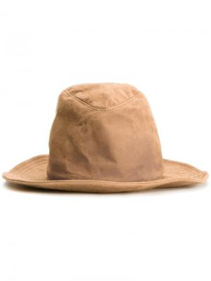 Шляпа с мятым эффектом Kijima Takayuki. Цвет: коричневый