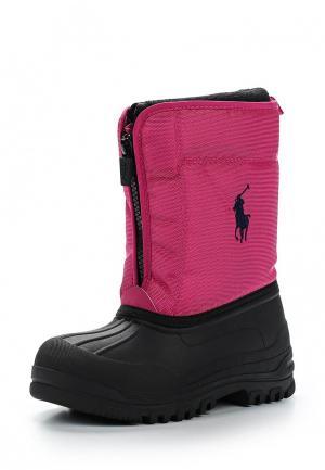 Дутики Polo Ralph Lauren. Цвет: розовый