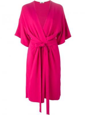 Платье миди с запахом Issa. Цвет: розовый и фиолетовый