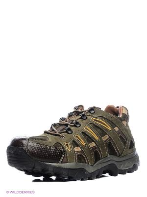 Спортивные ботинки WOODLAND. Цвет: оливковый