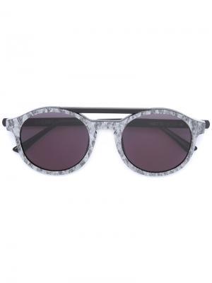 Солнцезащитные очки в круглой оправе Thierry Lasry. Цвет: серый