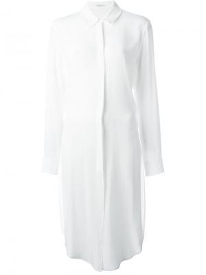 Удлиненная рубашка Equipment. Цвет: белый