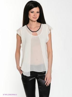 Блузка MARY MEA. Цвет: кремовый, черный