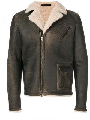 Куртка из овчины Salvatore Santoro. Цвет: коричневый