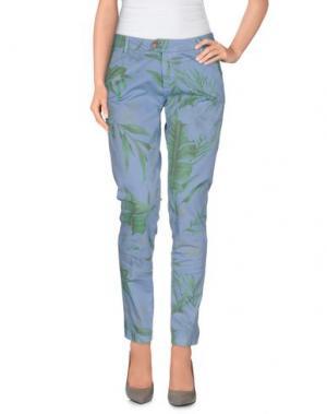 Повседневные брюки BONHEUR. Цвет: небесно-голубой