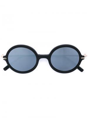 Солнцезащитные очки в круглой оправе Matsuda. Цвет: чёрный
