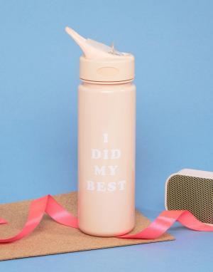BAN DO Бутылка для воды Ban.Do I Did My Best. Цвет: мульти