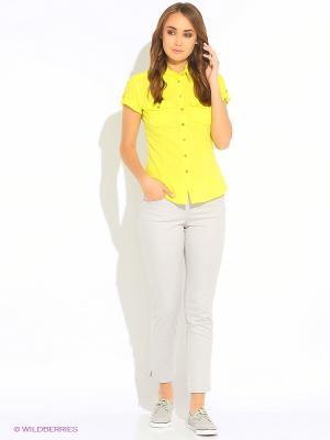 Блузка Oodji. Цвет: салатовый, светло-желтый