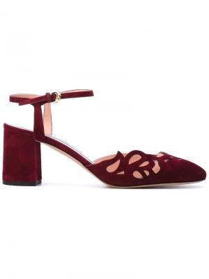 Туфли с перфорацией Rochas. Цвет: розовый и фиолетовый