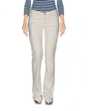 Джинсовые брюки JAGGY. Цвет: слоновая кость