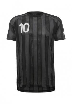 Футболка спортивная adidas Performance. Цвет: серый