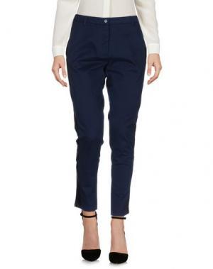 Повседневные брюки LOT 78. Цвет: темно-синий