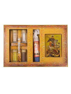 Набор паломника с ликом Георгия Победоносца Holy Land Collections. Цвет: бежевый
