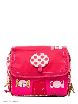 Рюкзак Божья коровка Lilliputiens. Цвет: малиновый, бледно-розовый, фуксия