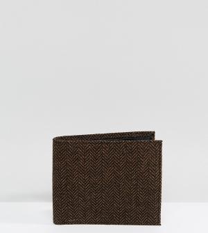 Heart & Dagger Твидовый бумажник. Цвет: коричневый
