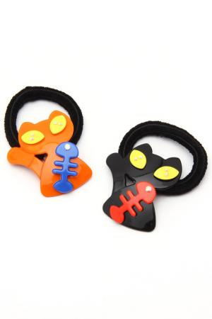 Набор резинок NICE GIRL. Цвет: черный, оранжевый