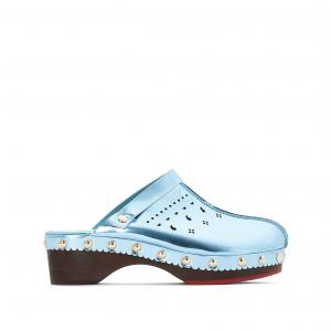 Сабо кожаные Amélie Pichard x La Redoute. Цвет: синий