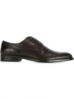 Перфорированные туфли Дерби Dolce & Gabbana. Цвет: коричневый
