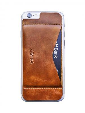 Кошелек-накладка для iPhone 6/6s ZAVTRA. Цвет: коричневый