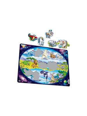 Пазл Планета животных LARSEN AS. Цвет: голубой, оранжевый, желтый, белый, синий, зеленый