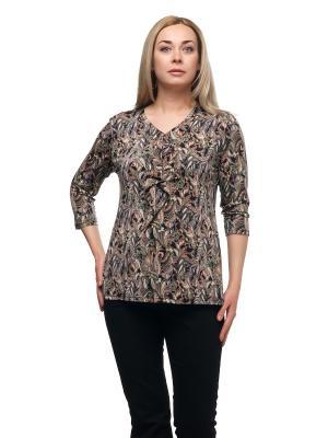 Блузка OLSI. Цвет: коричневый