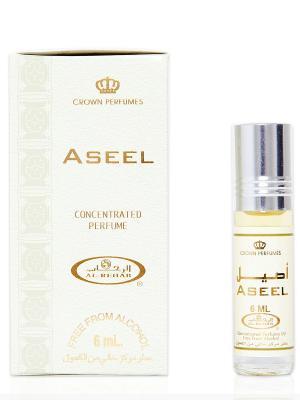 Арабские масляные духи Азил (Aseel), 6 мл Al Rehab. Цвет: золотистый, белый