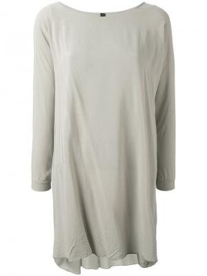 Платье-футболка свободного кроя Poème Bohémien. Цвет: серый