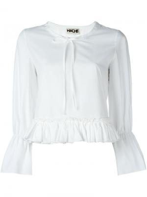 Блузка с оборками Hache. Цвет: белый
